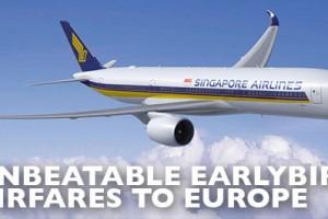 Earlybird Airfare to Europe